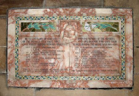 Fire Brigade and Police Roll of Honour - Sheffield