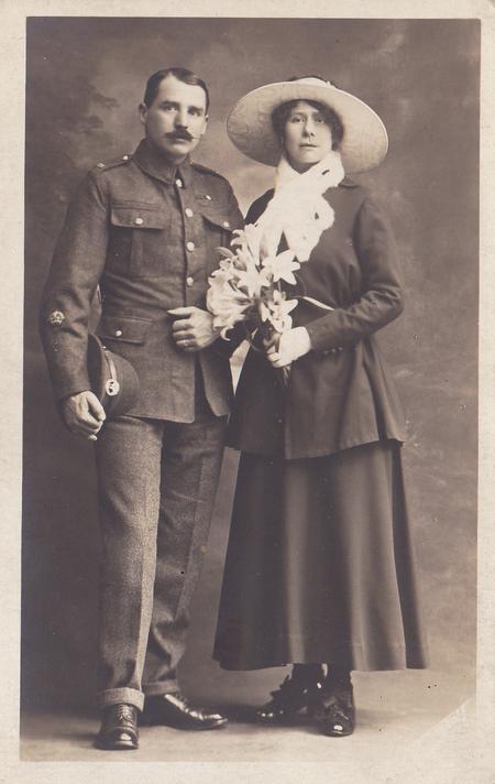 Wedding photo of Thomas Stratford and Alice Cooper