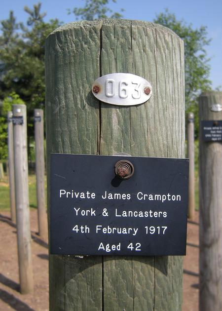 "James Crampton ""Shot at Dawn memorial"""