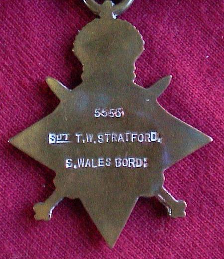 Tom Stratford 1914-15 Star (reverse)