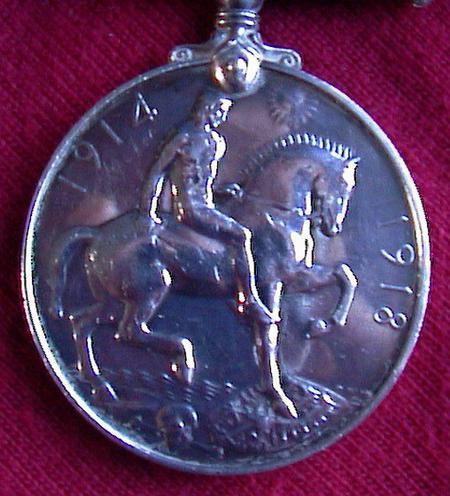 Tom Stratford British War Medal (reverse)