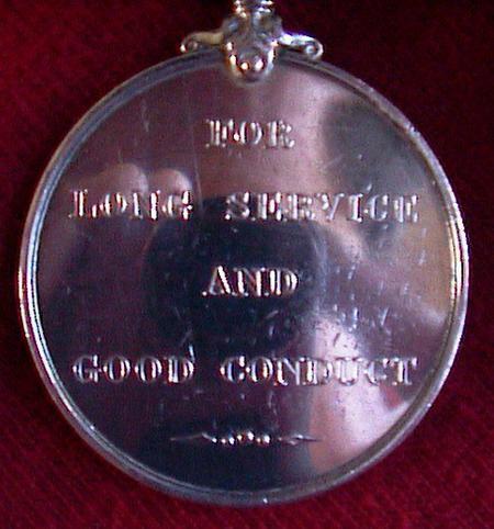 Tom Stratford Long Service Good Conduct (reverse)
