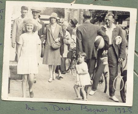 Tom with Vera on holiday in Bognor 1928