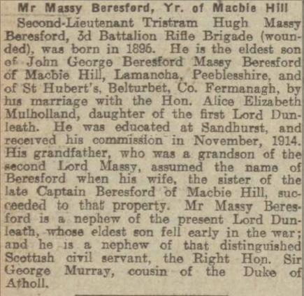 Evening Telegraph 3rd Nov 1915