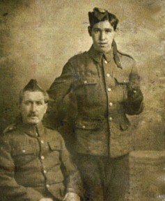 """""""Jock"""" Arthur with his father,"""