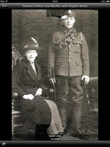 Thomas Carlton & Martha Jane English (Wood).