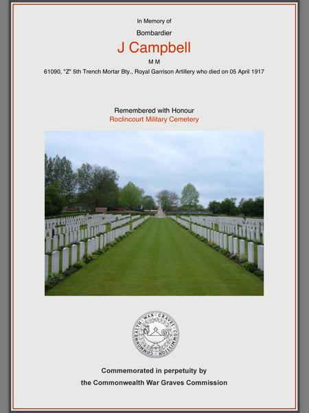 CWGC-In Remembrance.