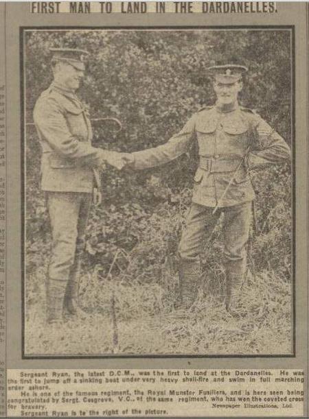 Sergeant Cosgrave VC and Sergeant Ryan DCM