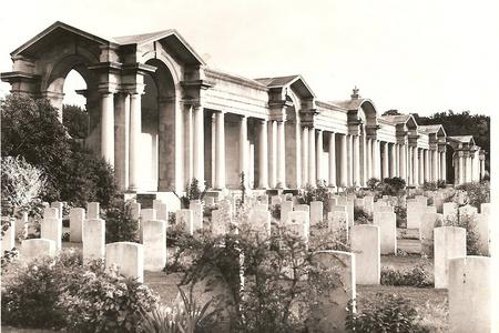 Stock shot of cemetery from CWGC