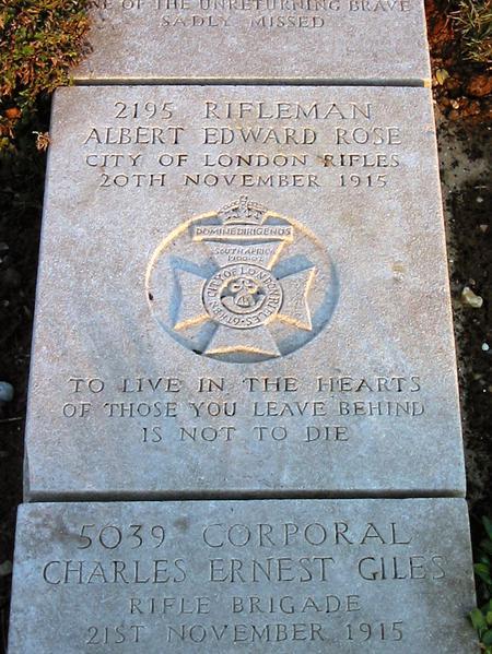 Albert Edward Rose Grave