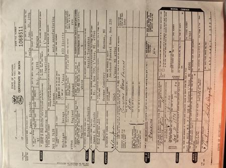 Official Death Certificate