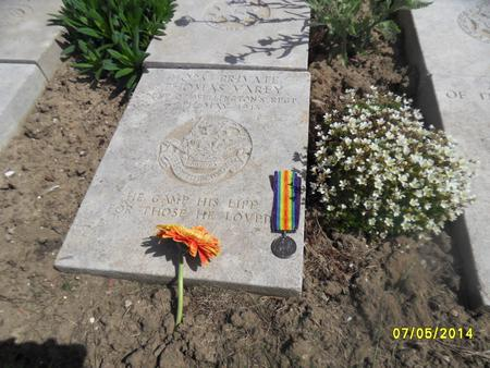 Thomas Varey Grave