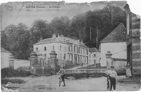 postcard of chateau at Authie