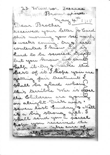 Letter from Sister