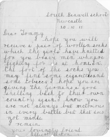 schoolboy letter