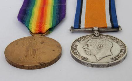 Victory and British War Medals.