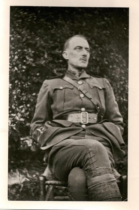 2nd Lieut. Edward Thomas on embarkation leave 1917