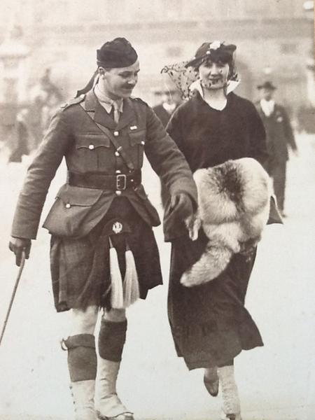 Joseph Wilson and wife outside Buckingham Palace.