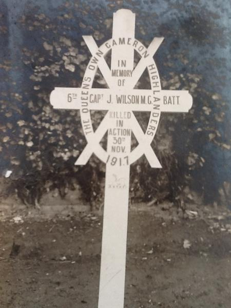 First grave of Joseph Wilson