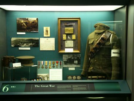 Display Cabinet No. 6 at RAMC Museum.