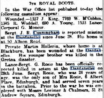 Edinburgh Evening News - 6 Aug 1915