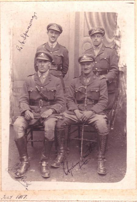 Major Charles Sydney Smith MC and fellow officers