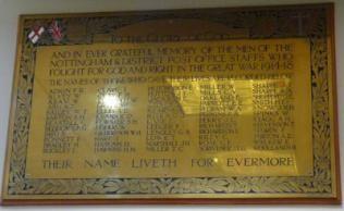 Nottingham General Post Offic War Memorial