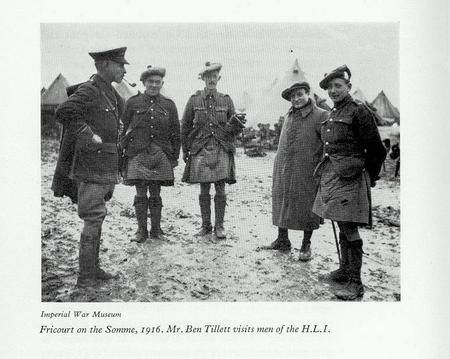 Stanley Withers (far right) at Fricourt.