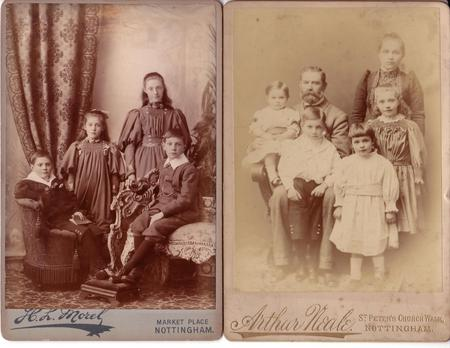 Charles Sydney Smith and family c.1897 and 1892