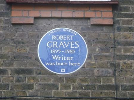 Blue plaque on the building where he was born