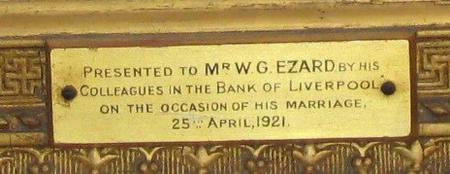 Wedding presentation plaque, 1921