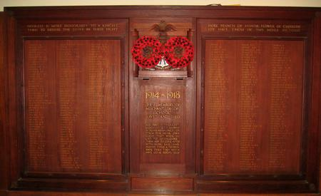 War memorial at Merchant Taylors' School,Northwood