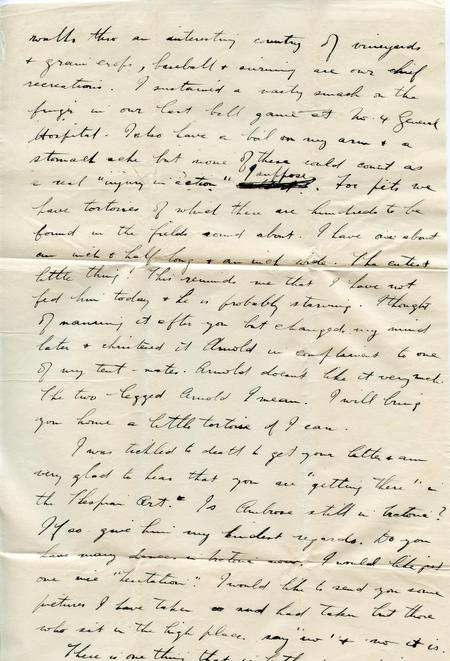 Frank's letter to Frieda (top of page 2)