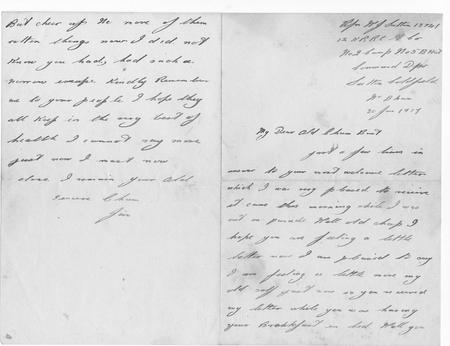 Letter from friend Jim 30 Jan 1917 (pp 1, 4)