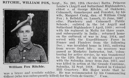 Profile picture for William F Ritchie