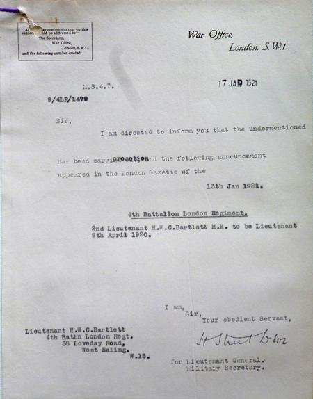 Listing of Promotion to Lieutenant
