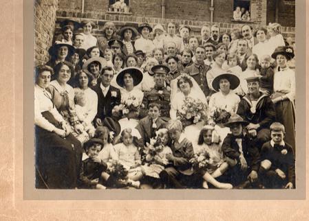 Wedding Day of Henry Dismon & Isabel Brettell 1915