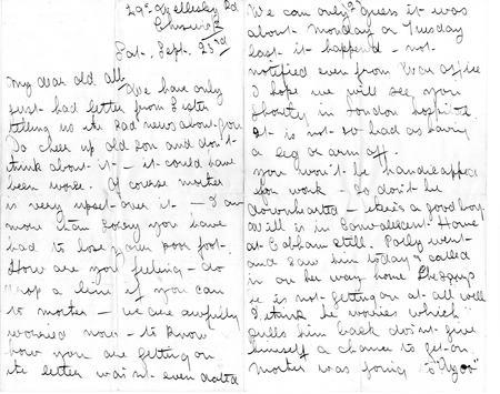 Letter from sister Ada, Sept 23rd 1916 (pp1-2)