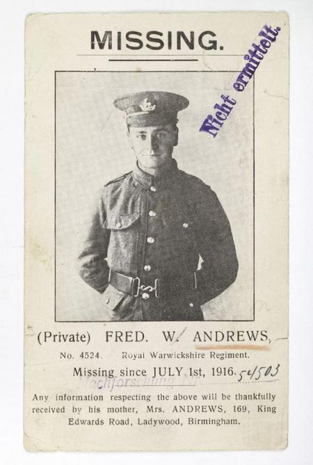 Profile picture for Frederick William Andrews
