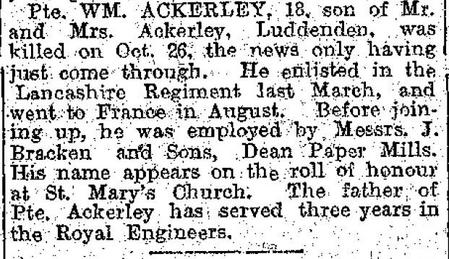 Obituary in Halifax Courier