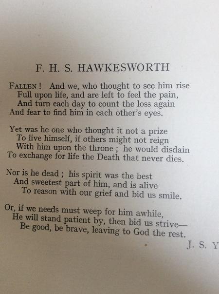 F H S Hawkesworth