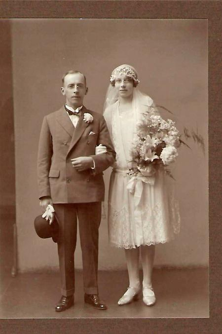Oliver and Florence on their Wedding Day