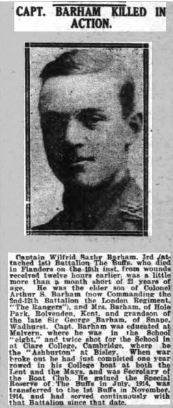 Kent & Sussex Courier 05 November 1915