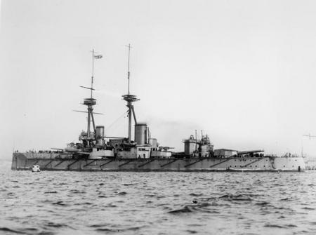 HMS Vanguard launched in 1915