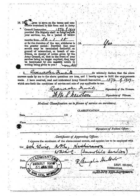 Enrolment Form Continuation