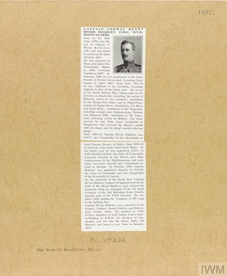 Captain Thomas Henry Rivers Bulkeley CMG MVO