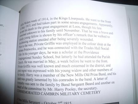 """From Local New Mills Book """" A Debt of Honour """""""