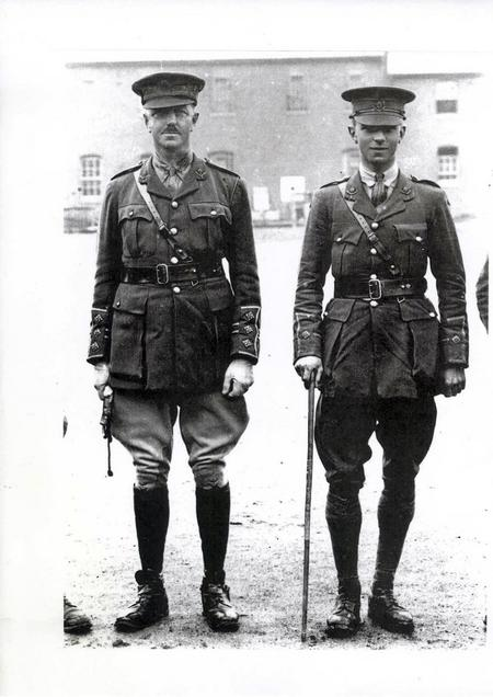 Captain Walford with 2Lt NVH Symonds MC