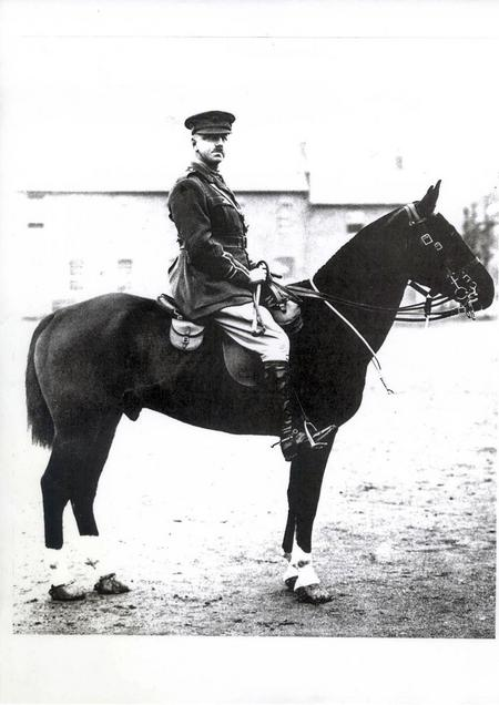 Captain JO Walford mounted