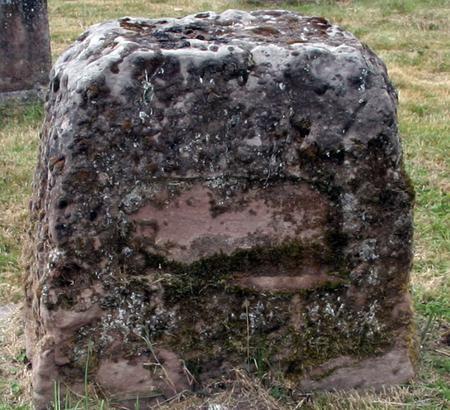 Captain JO Walford's gravestone at Hanbury Church